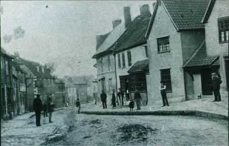 Market Lavington High Street in the 1890s