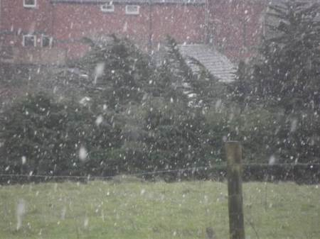 A small flurry of snow fell in Market Lavington on February 13th 2014