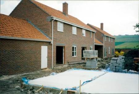 The new houses near completion