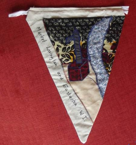 Easterton depicted on a pennant made in 2012