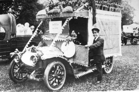 Easterton Jam Factory carnival entry in the 1920s