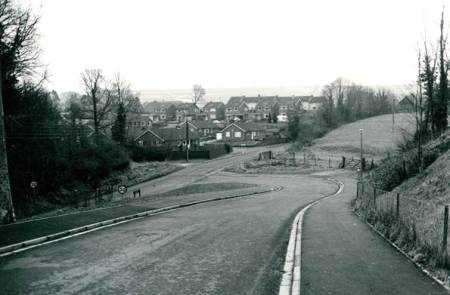 The view down Canada Rise in the 1970s