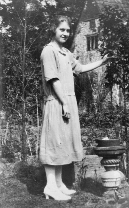 Flo Burbidge at a Knapp Farm Cottage in the 1920s