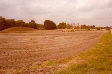 Lavington School; sports field being made in 1979