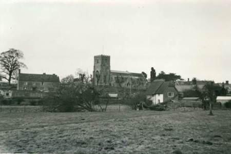 Market Lavington from the old recreation ground on The Spring