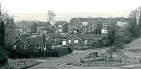 Bouverie Drive was a new area of housing 40 years ago.