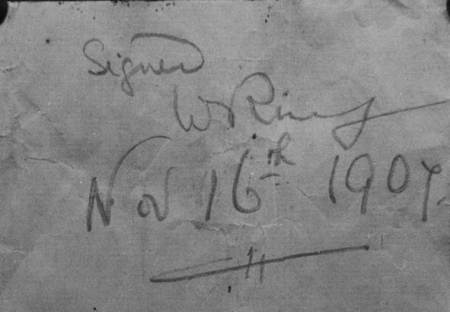 Reverse of the list - signed by W Ring