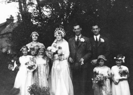 A wedding photo in the Burbidge album