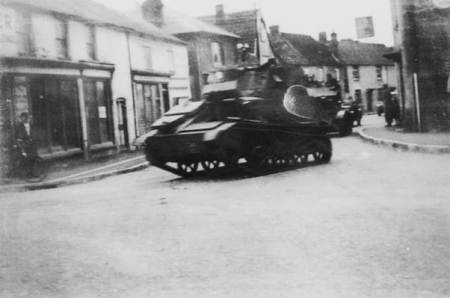 A tank on Church Street in the 1930s