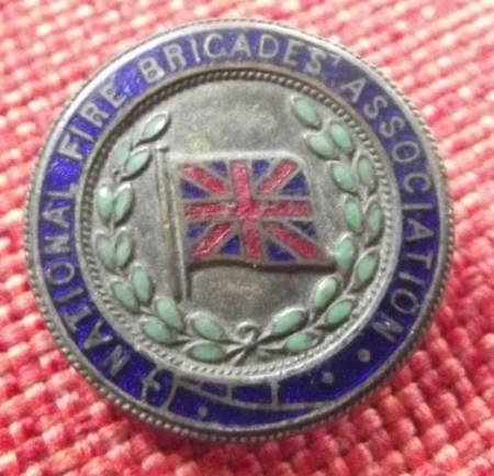 Shuner Baker's fireman's badge
