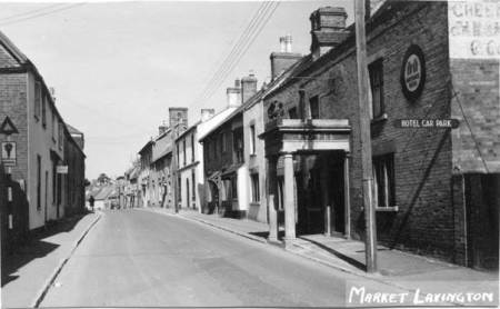 Market Lavington High Street in about 1957