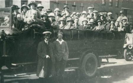 Charabanc party at Salisbury in the 1920s