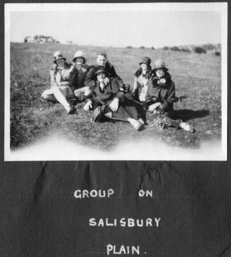 The girls (and one boy) on the Plain with three identified by Pat Hale.