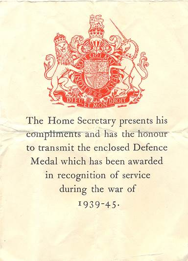 Accompanying letter from the Home Secretary