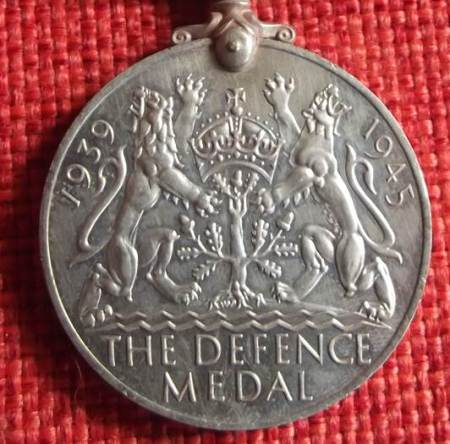 The reverse side of the medal