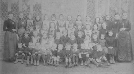 Market Lavington School class in 1891