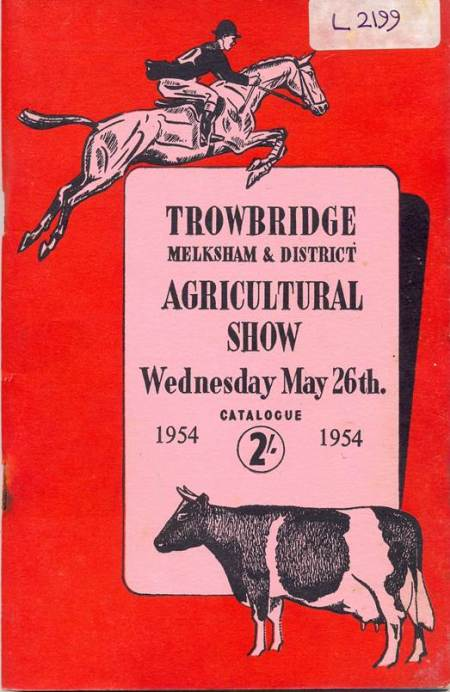 Front cover of 1954 Trowbridge, melksham and District Agricultural Show catalogue
