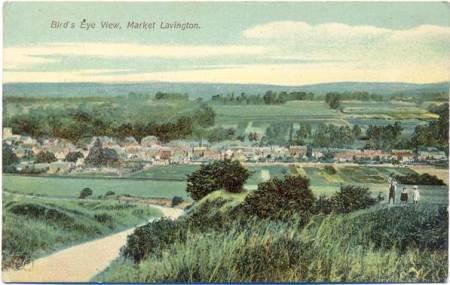 Bird's Eye View of Market Lavington