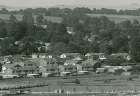 Houses on the Fiddington Clays estate