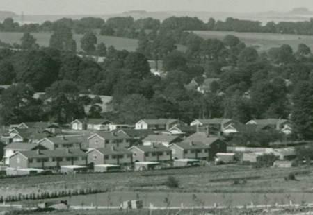 Houses on the Fiddington Clays estate