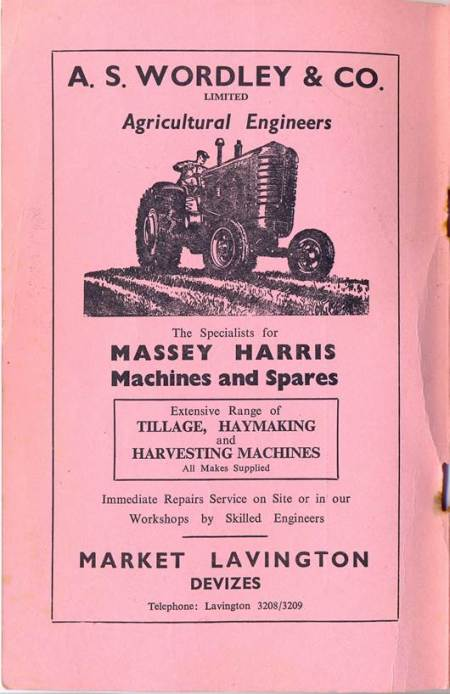 Advert for Wordley and Co of Market Lavington