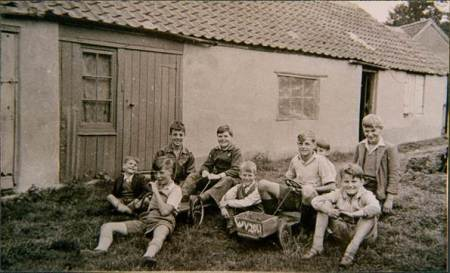 Boys at Broadwell in Market Lavington in 1952