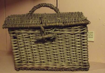lunch basket made by Alf Mullings of Market Lavington in the early 20th century