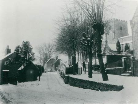 Market Lavington Church and Grove Farm in 1897