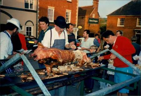 Pig roast in Market Lavington - September 1994