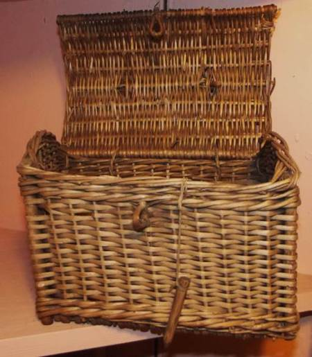 This basket was used by Sid Mullings - brickworks labourer and later Market Gardener at Fiddington Sands