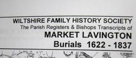 A Burial Register can now be inspected at market Lavington Museum
