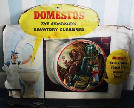 Domestos advert from Harry Hobbs' shop in Market Lavington