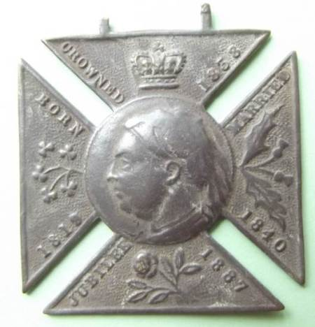 1887 Queen Victoria Golden Jubilee medallion - a Market Lavington metal detector find