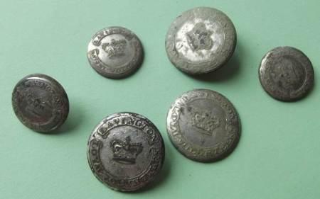 Lavington Loyal Volunteer buttons found in Market Lavington.