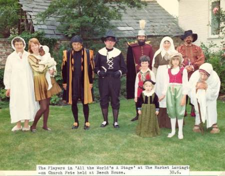 A play within the church fete at Beech House, Market Lavington in about 1972