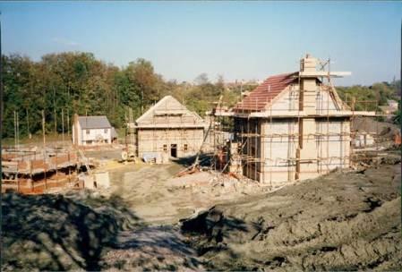 Grove Farm Estate, Market Lavington under construction in October 1990