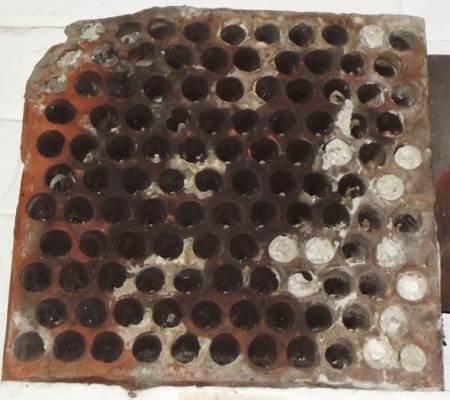 A ventilation tile from a Market Lavington malthouse