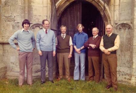 Market Lavington bell ringers of 1977