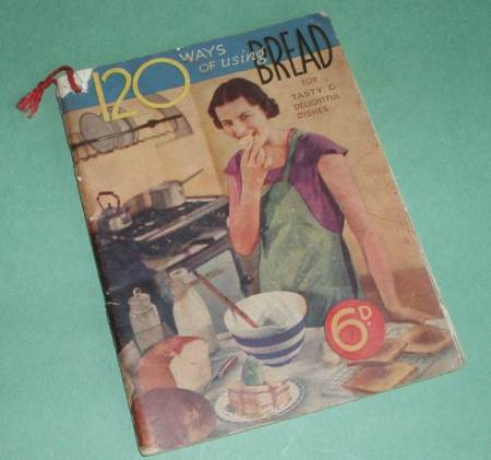 120 ways of using Bread is a recipe book at Market Lavington Museum