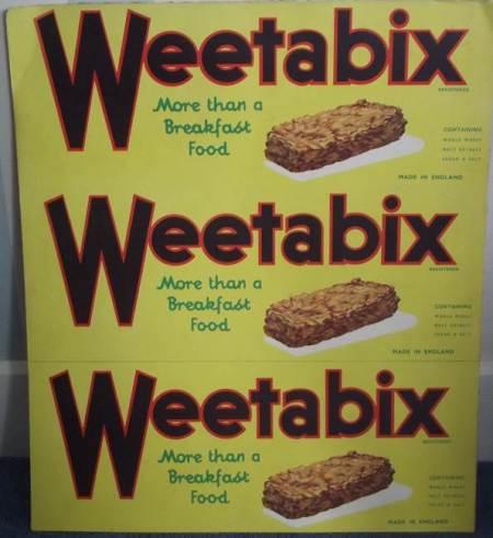 Weetabix advert from Harry Hobbs' Market Lavington shop