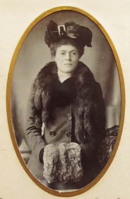 Betty James  - a photo in an album at Market Lavington Museum