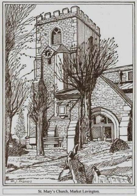 Illustration of St Mary's, Market Lavington - scene of some major action