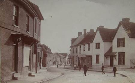 Market Lavington High Street on a card posted in 1910