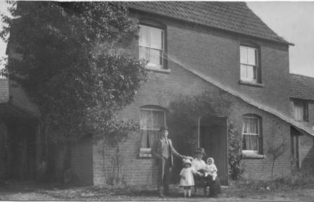 Number 2 Parsonage Lane in Market Lavington - possibly in about 1912