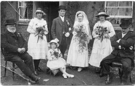 Wedding of Bill Blake and Ethel Cooper - Market Lavington - 1920