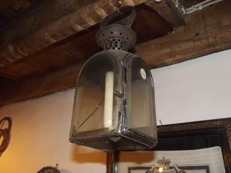 Victorian candle lantern at Market Lavington Museum