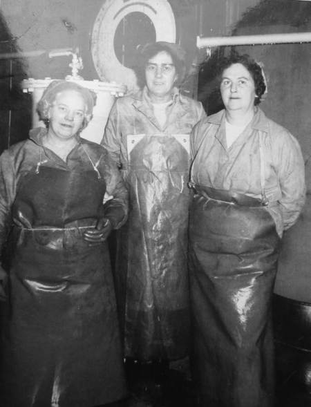 jam factory ladies at Samuel Moore Foods, Easterton - probably in the 1960s
