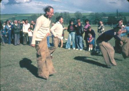 sack race for men - a Market Lavington event in 1977