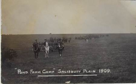 Soldiers at Pond Farm Camp in 1909