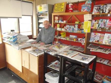 Keith in the shop in 2014, before retirement